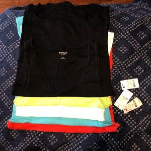 NWT Lot of 7 Express Sexy Basic Tank Tops